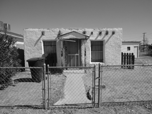 Old Jailhouse in El Mirage AZ, on US 60 just west of Phoenix. (See map below.)