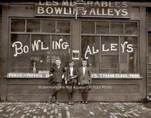 Early bowling alleys