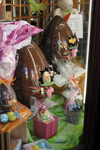 Beautiful Easter Eggs on display in Torino, Italy.