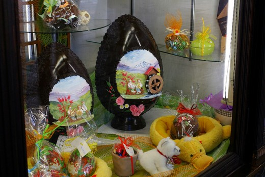 Incredibly artistic Easter eggs on display in Torino, Italy.