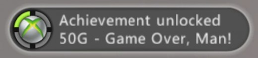 The 'Game Over Man' Achievement is given once all the steps have been completed.