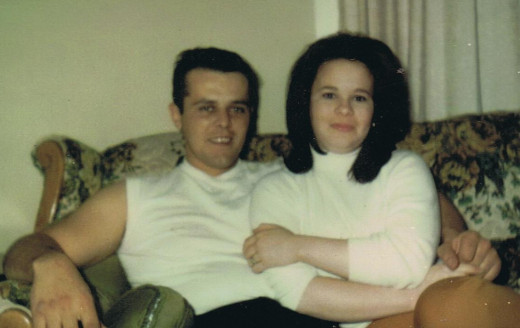 Hubby and I many years ago