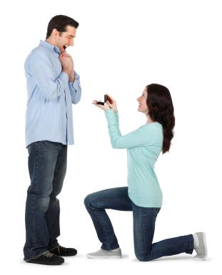 Sure, ladies can propose to men