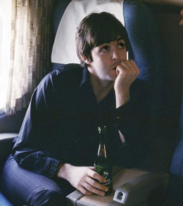 Paul relaxing on a plane.