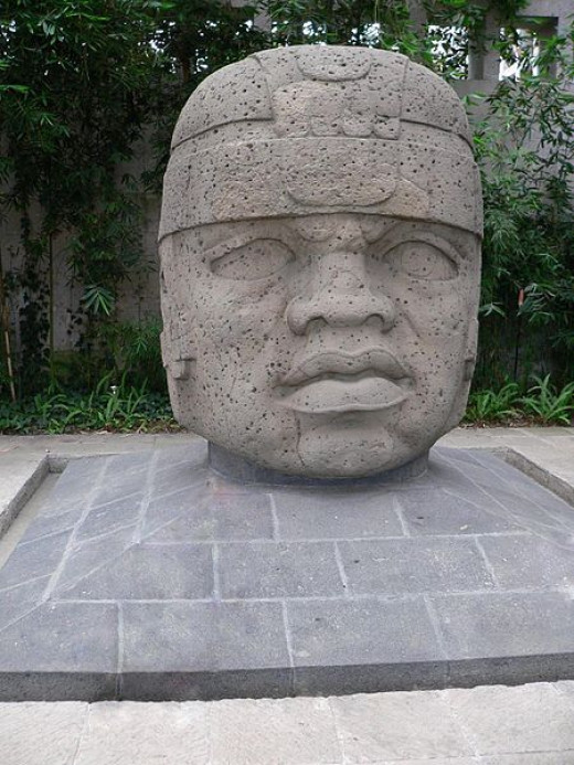 Olmec Head in the anthropological museum of Xalapa.