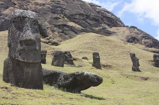 Easter Island, Rano Raraku.