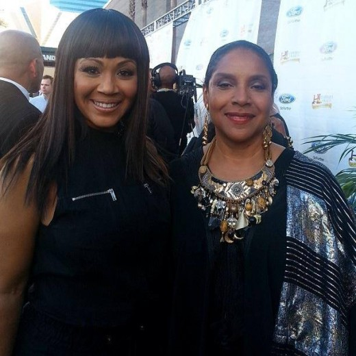 Erica Campbell of Mary Mary with Phylicia Rashad