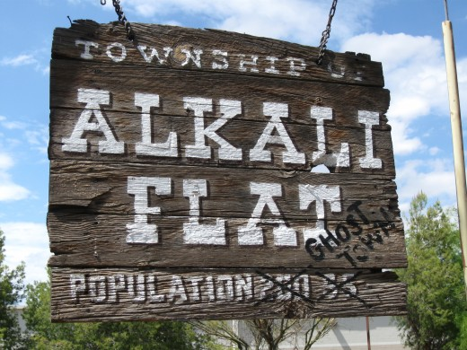 Alkali Flat - population Zero