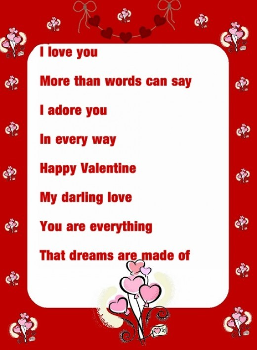 valentine's poems - photo #30