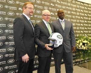 New GM Mike Maccagnan, Owner Woody Johnson and new Head Coach Todd Bowles.  The Jets fanbase are hoping they finally have their winning combination.