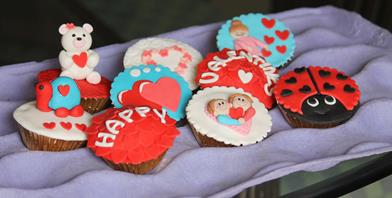 Lovely valentines cupcakes