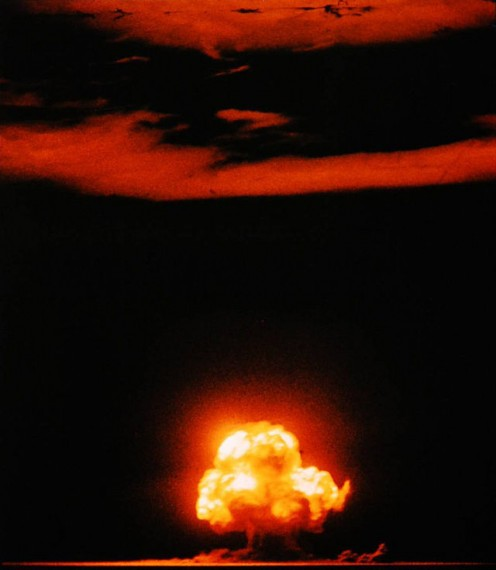 First atomic bomb detonation at Trinity site in New Mexico