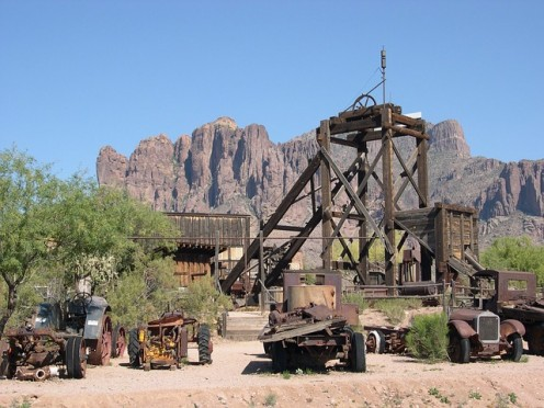 Abandoned Gold Mine in the Superstition Mountains.