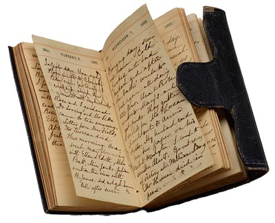 Nathaniel Hawthorne and his wife, Sophia, kept a diary together.