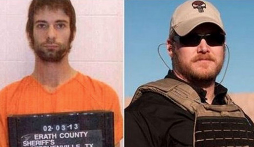 The murderer and Chris Kyle