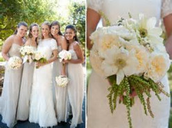 Pretty bridesmaids and flowers