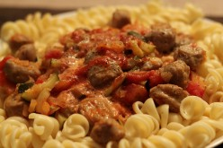 How to make your own simple Pasta dish with a Spicy Sausage Sauce