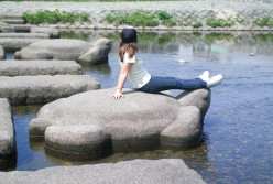 Stepping stones in Kyoto (c) A.Harrison