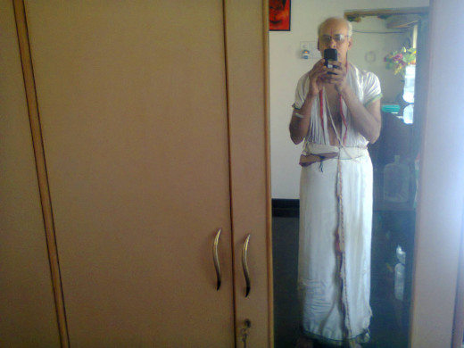This is your writer in his puja dress