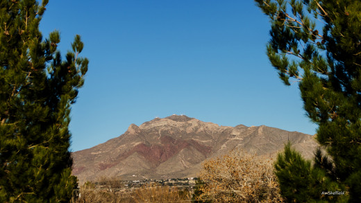 The Thunderbird on the west side of The Franklin Mountains