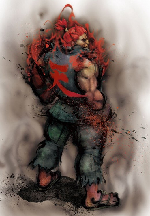 Official art of Akuma for Street Fighter 4.