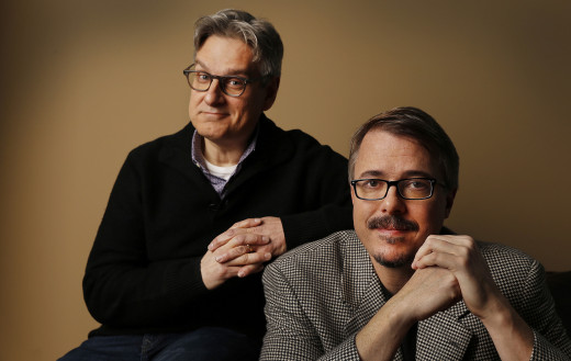 The dynamic duo of creators and producers Peter Gould (left) and Vince Gilligan (right)