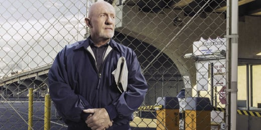 Jonathan Banks as Saul's right hand man Mike Ehrmantraut