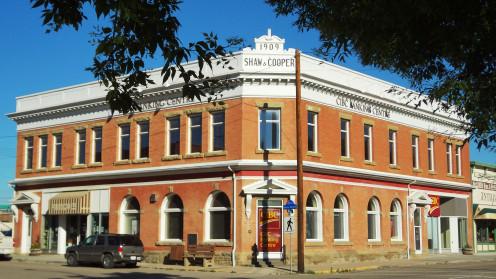 Shaw & Cooper building Main Street Nanton