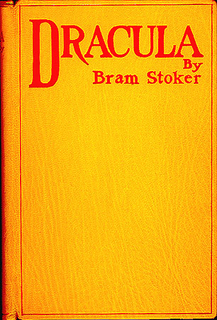 The cover of the first edition of Bram Stoker's Dracula.