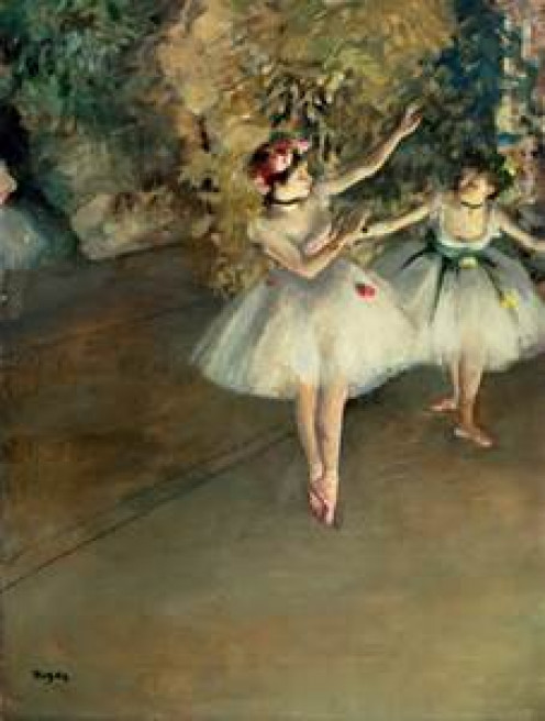 """Degas representing a """"sort of"""" Pas De Deux - to be compared with the two working women Pas de deux - interesting concept - please see my evaluation in the article I wrote"""