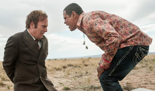 Saul Goodman and Raymond Cruz as lunatic meth kingpin-to-be Tuco