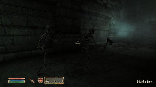 Stealth in Oblivion is a much better experience, though keeping out of sight is still vital.