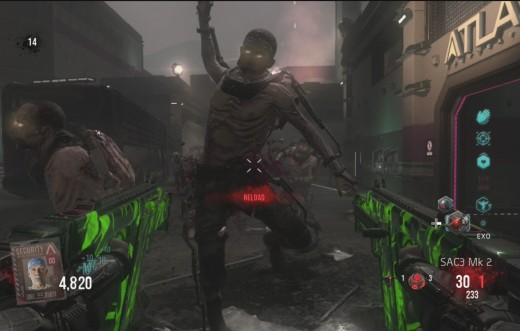 The Exo Suit gives zombies extra abilities.
