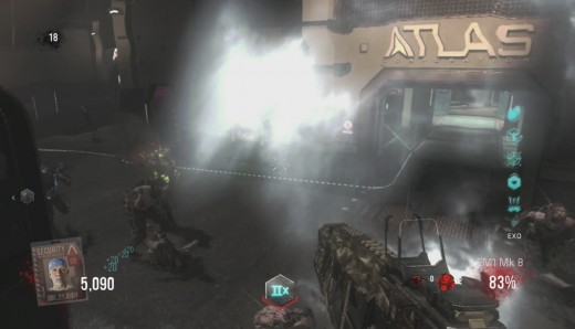 The EMP Blast ability allows the zombie to take down your Exo Suit without making contact.