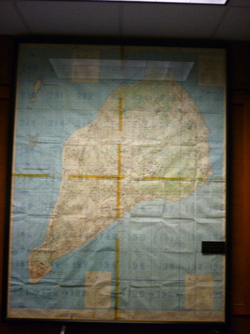 Iwo Jima map at Museum and Gift Shop in Harlingen, Texas