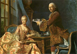 Architect Jean Rodolph Perronet with his wife, by Alexander Roslin
