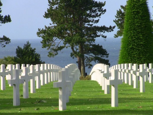 Enjoying the curve of the crosses at this memorial cemetery, Omaha Beach, Normandy, France.