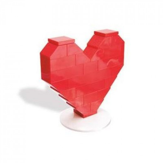 Lego Heart on a Stand