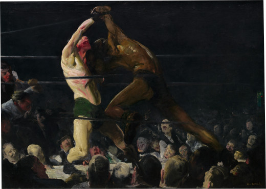 George Wesley Bellows was fascinated by boxers and painted them often.