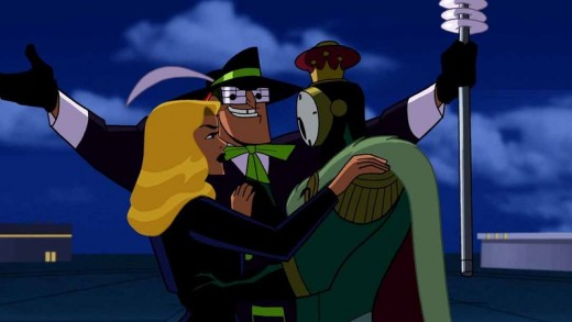 The Music Meister, along with Black Canary and Clock King, in Mayhem of the Music Meister!