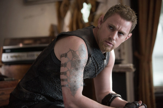 The ever-so-serious Channing Tatum as genetically-enhanced killing machine Caine Wise