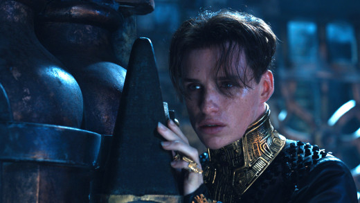 Emo kid and sure-to-be Razzie Award winner Eddie Redmayne as heir-apparent Balem