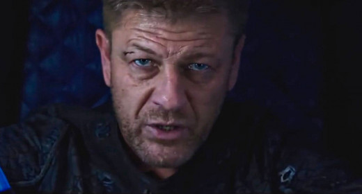 The bruised and beaten but surprisingly NOT dead Sean Bean as Stinger