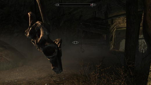 There were no major changes to stealth in Skyrim, but instead there are lots of little additions like the noisemaker trap I just walked into.