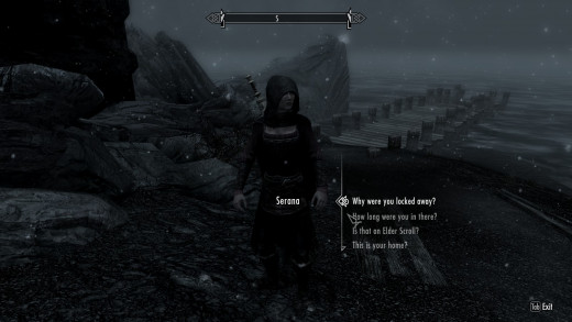 Talking to people is much less intimate in Skyrim.