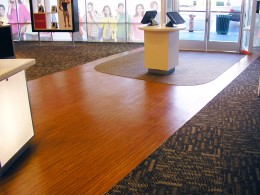 Specialty Flooring Done by Impact Solutions to help with directing customer flow