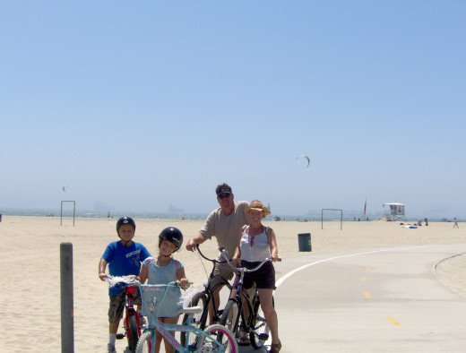 On the bike path with my brother and his kids