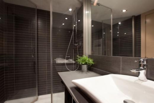modern bath/shower room.