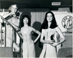Promo-Still-Flying High Left to right: Pat Klous, Kathryn Witt and Connie Sellecca
