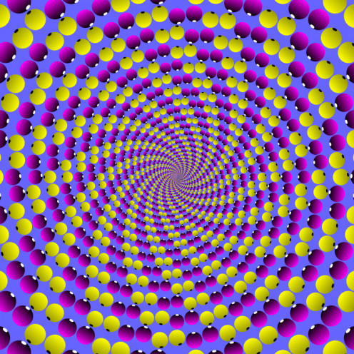 Eye ball spiral Professor Akiyoshi Kitaoka